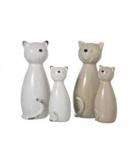 CHAT EN PORCELAINE