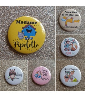 Les badges ou magnets